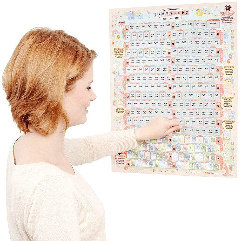 Baby an Bord - Rubbelkalender für die Schwangerschaft