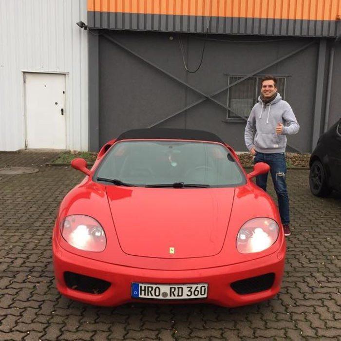 Beifahrer im Ferrari 360 Spider - Magdeburg