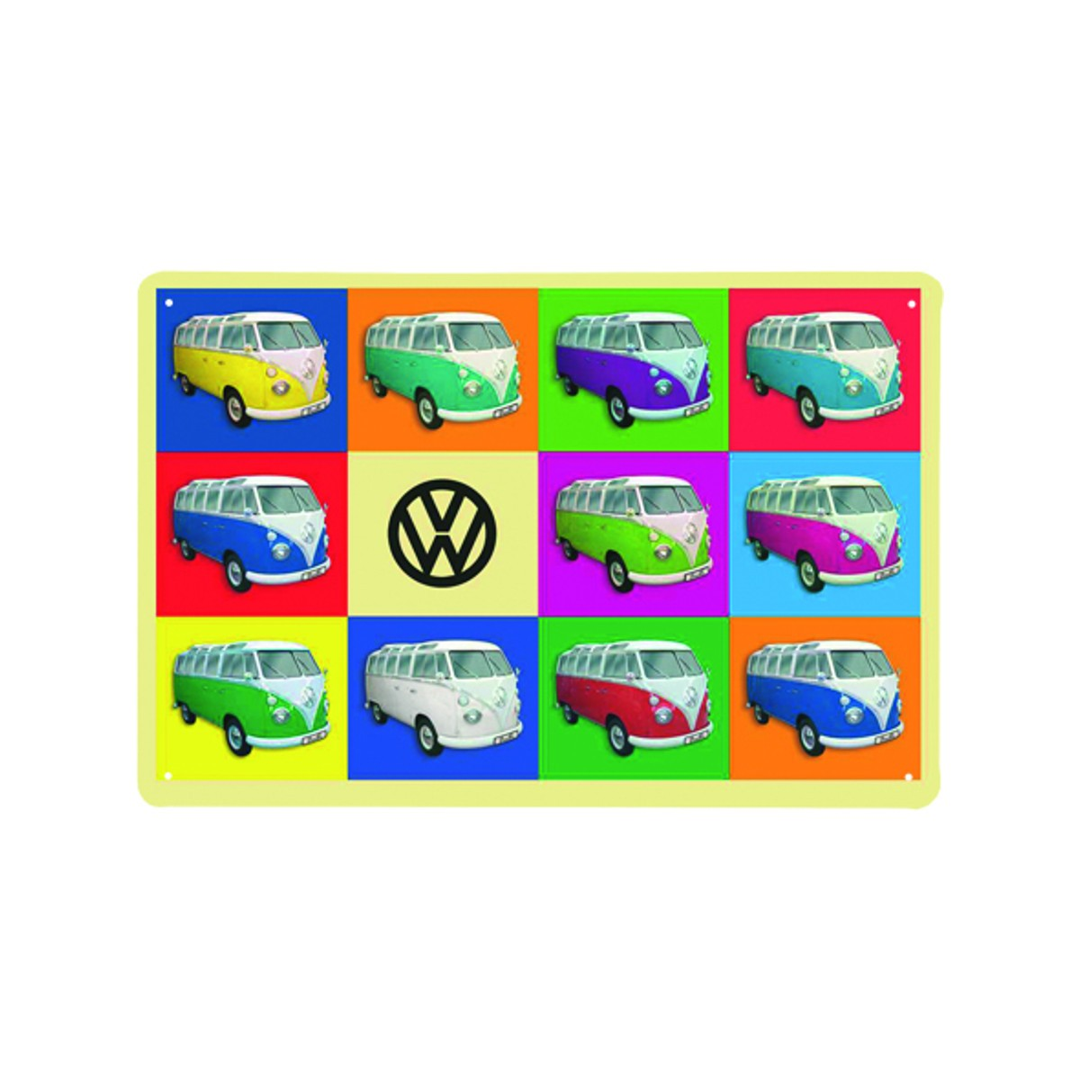 "Blechschild in Pop Art ""VW Bulli"""