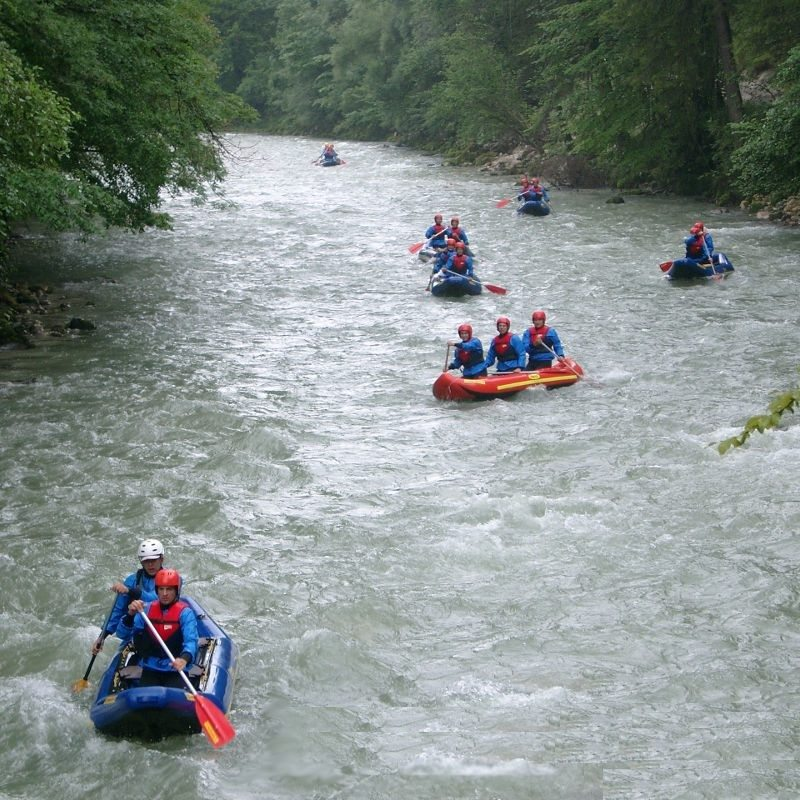 Canadier-Rafting – Berchtesgaden