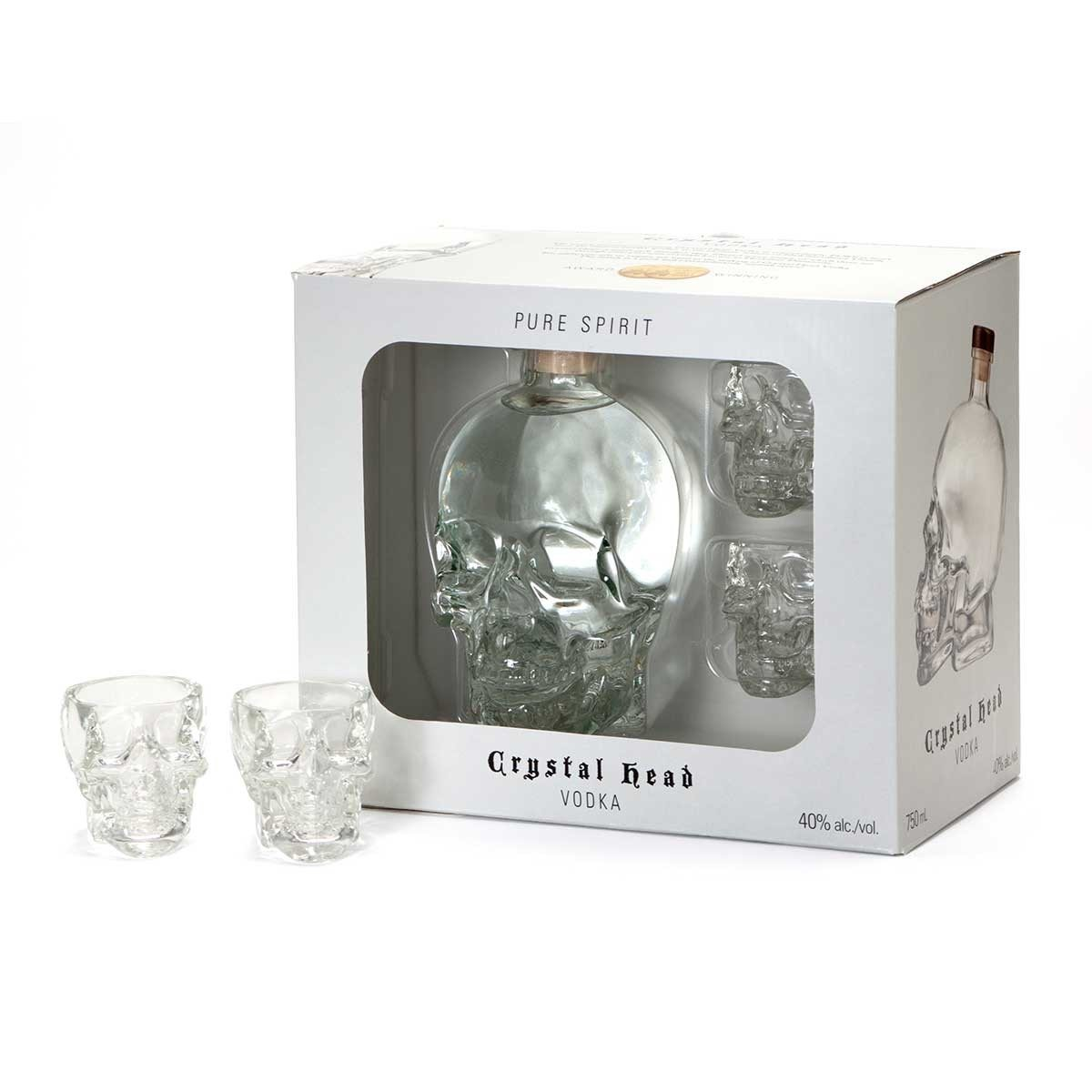 Crystal Head Vodka inkl. Martini Shot Glas