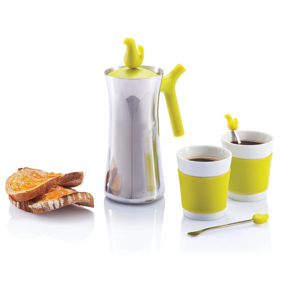 Early Bird - Kaffeepresse und Tassen