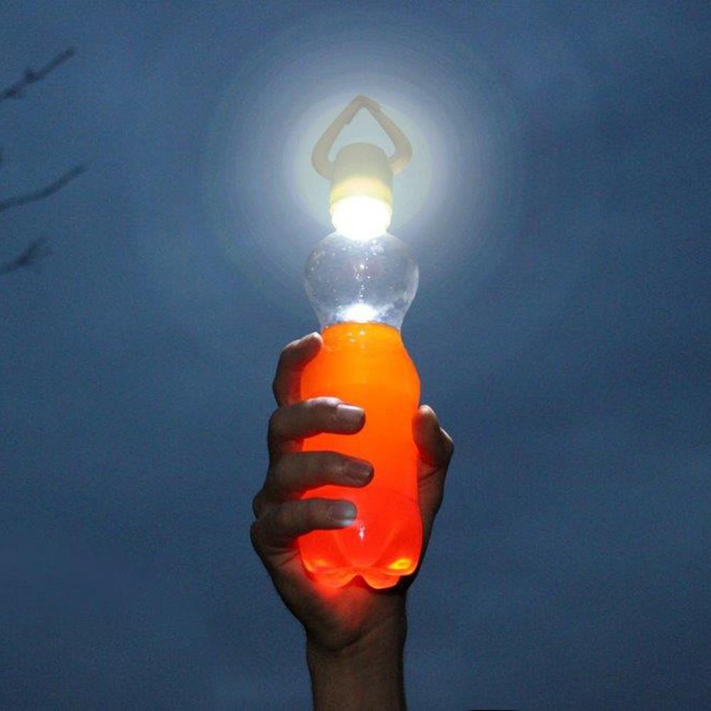 Flaschenlampe – die Outdoor-Erleuchtung