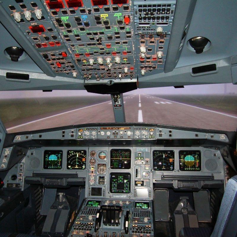 Flugsimulator A340 München