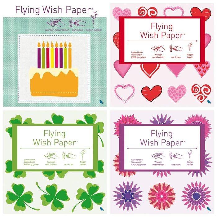 Flying Wish Paper - 15 fliegende Wunschzettel