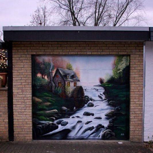 Garagentor Grafitti - Köln