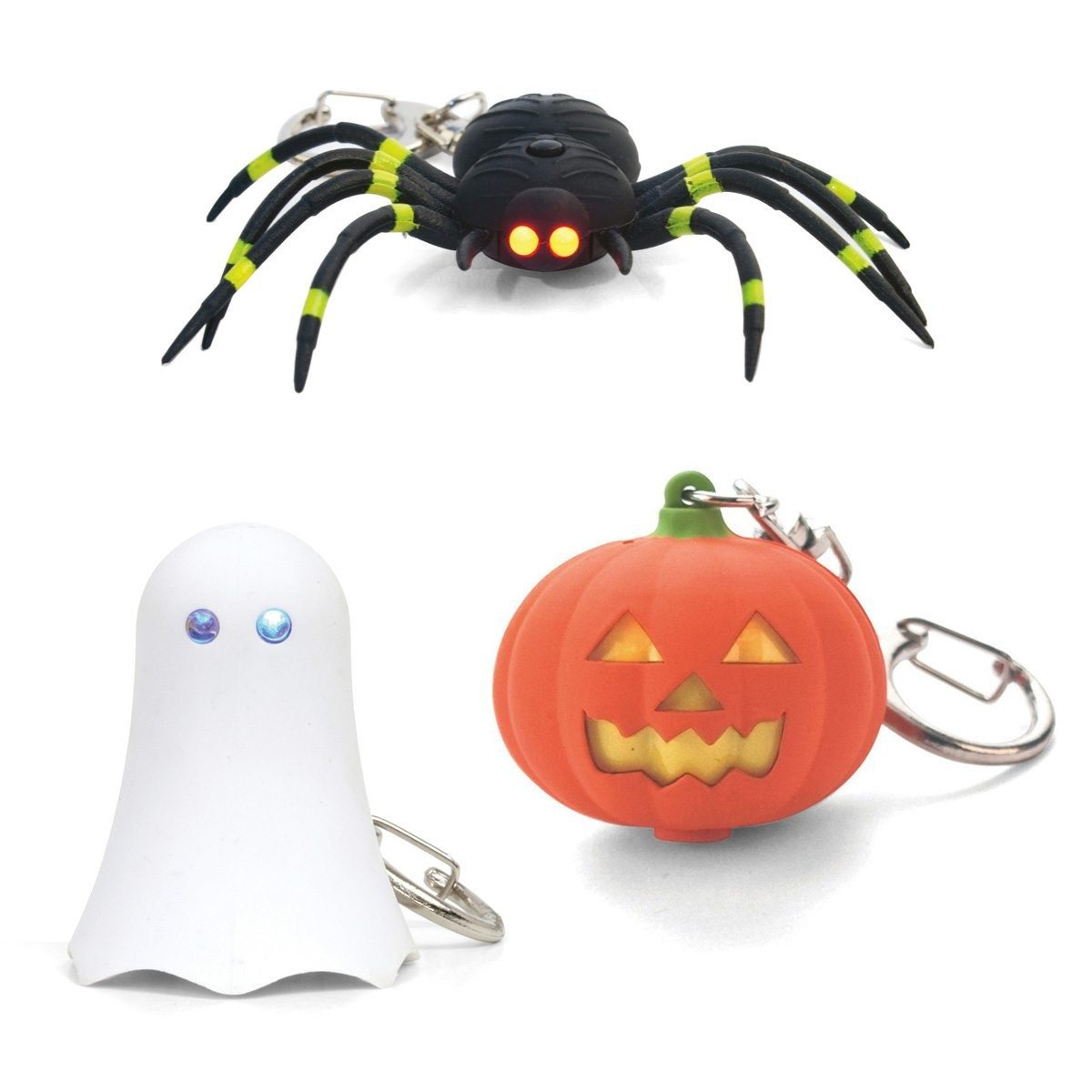 Gruseliger LED Schlüsselanhänger Kürbis verpackt