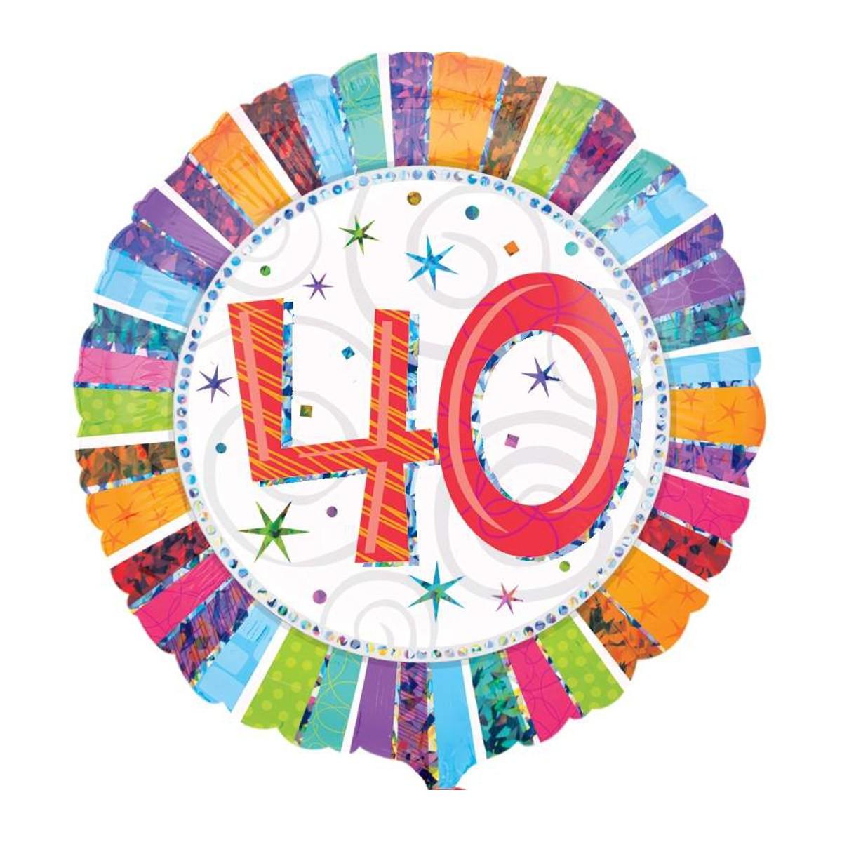 "Helium-Luftballon ""40. Geburtstag"""