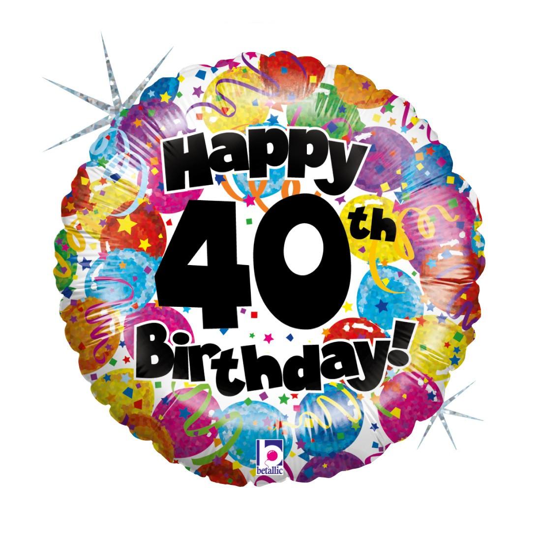Helium-Luftballon 40. Geburtstag