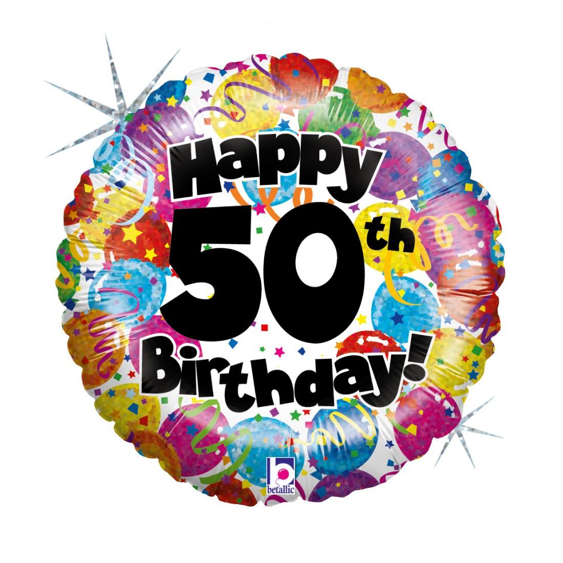 Helium-Luftballon 50. Geburtstag