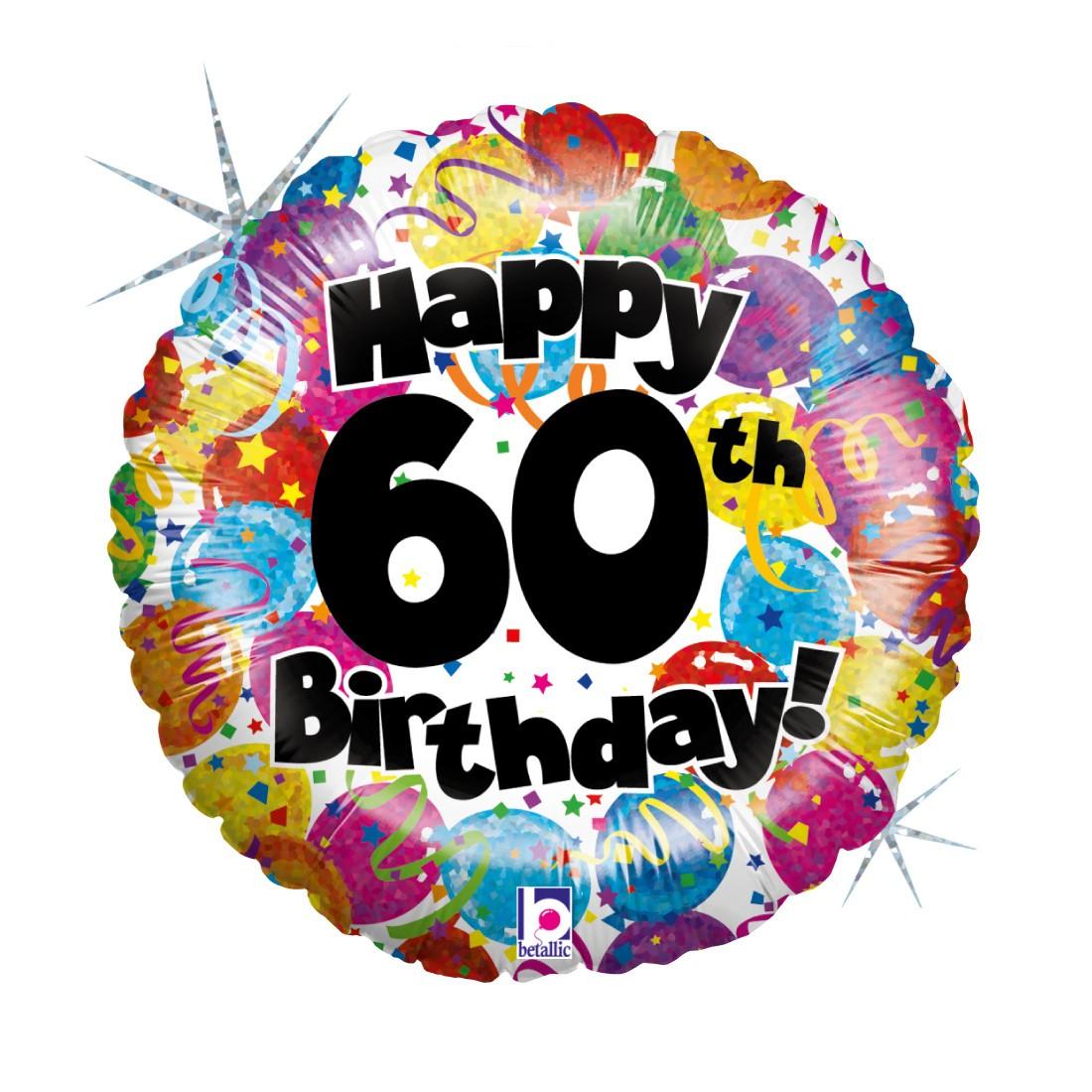 Helium-Luftballon 60. Geburtstag