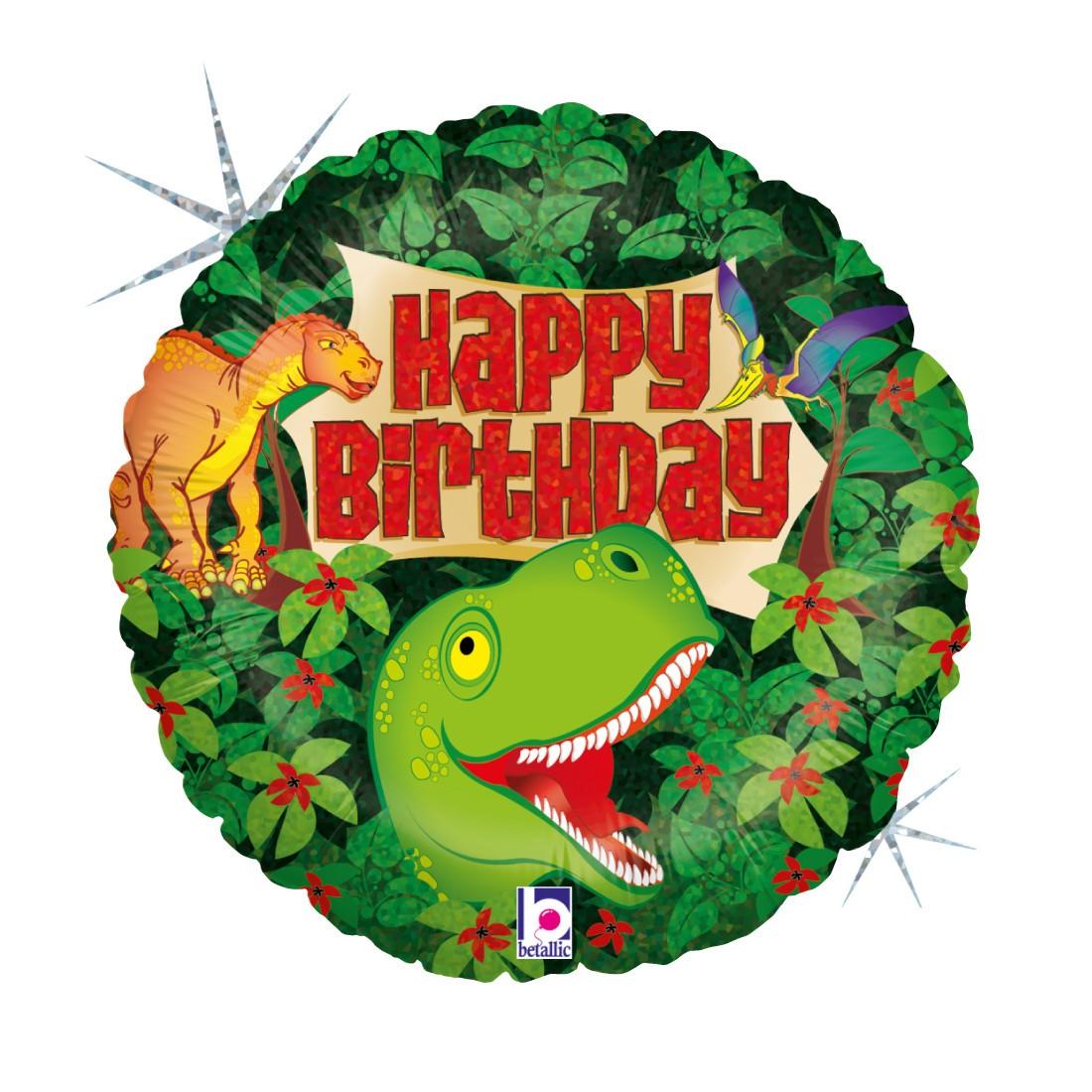 Helium-Luftballon Dinosaurier Happy Birthday