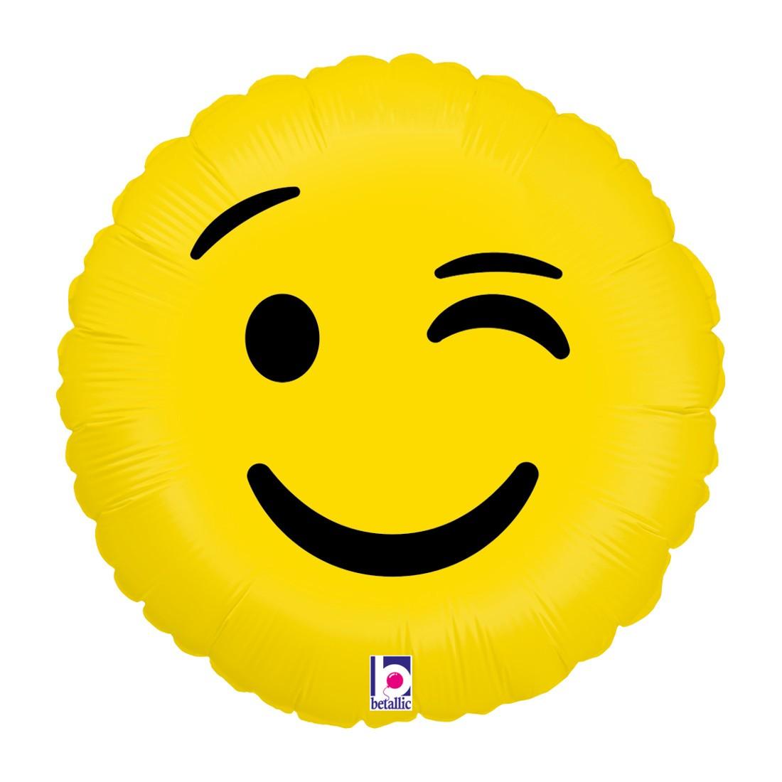 Helium-Luftballon Emoji Zwinkern