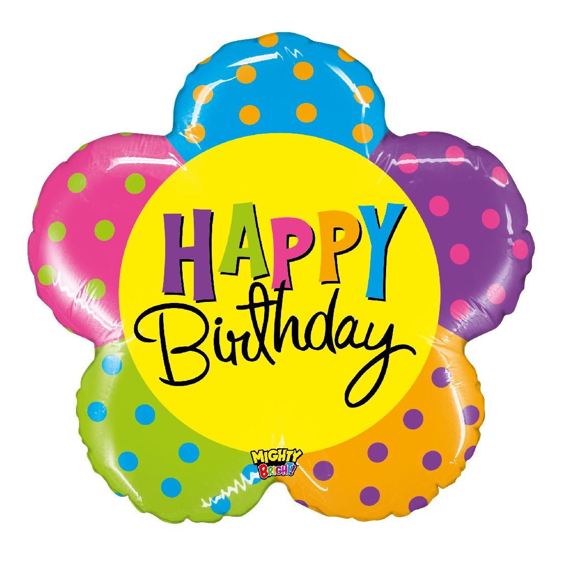 Helium-Luftballon Geburtstags-Blume