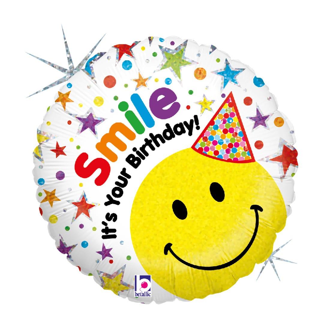 Helium-Luftballon Geburtstags-Smiley