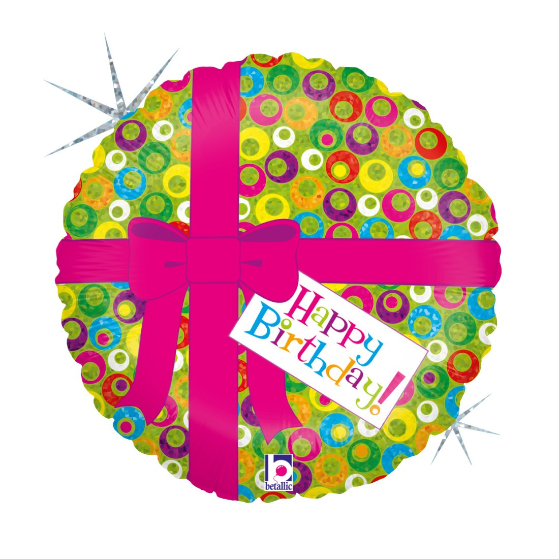 Helium-Luftballon Geschenkschleife Happy Birthday