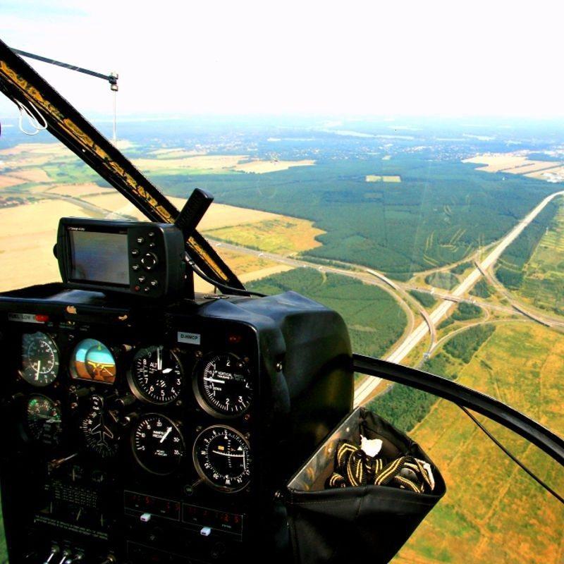 Hubschrauber selber fliegen und Rundflug südlich von Berlin