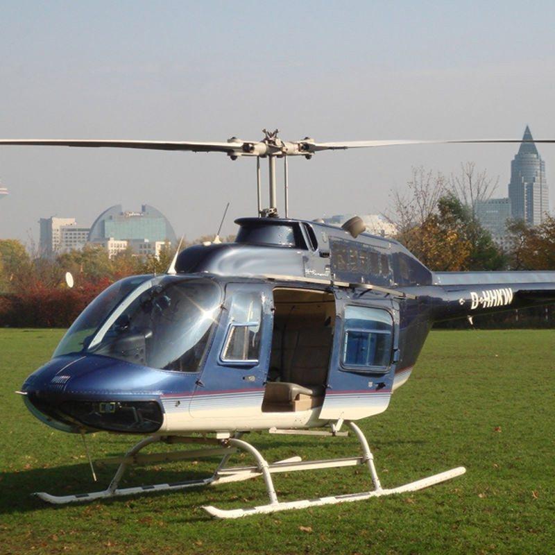 Hubschrauberflug zum Schafhof Armorbach-Direktflug - Frankfurt am Main