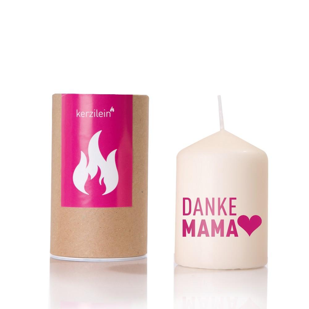 "Kerze ""Danke Mama"""