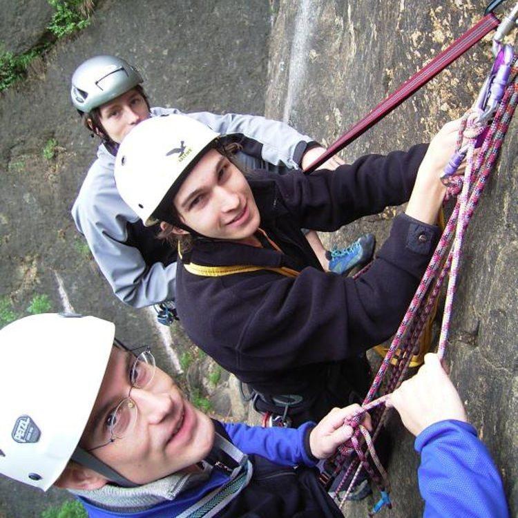 Kletterkurs für Anfänger am Fels Riesenstein in Heidelberg