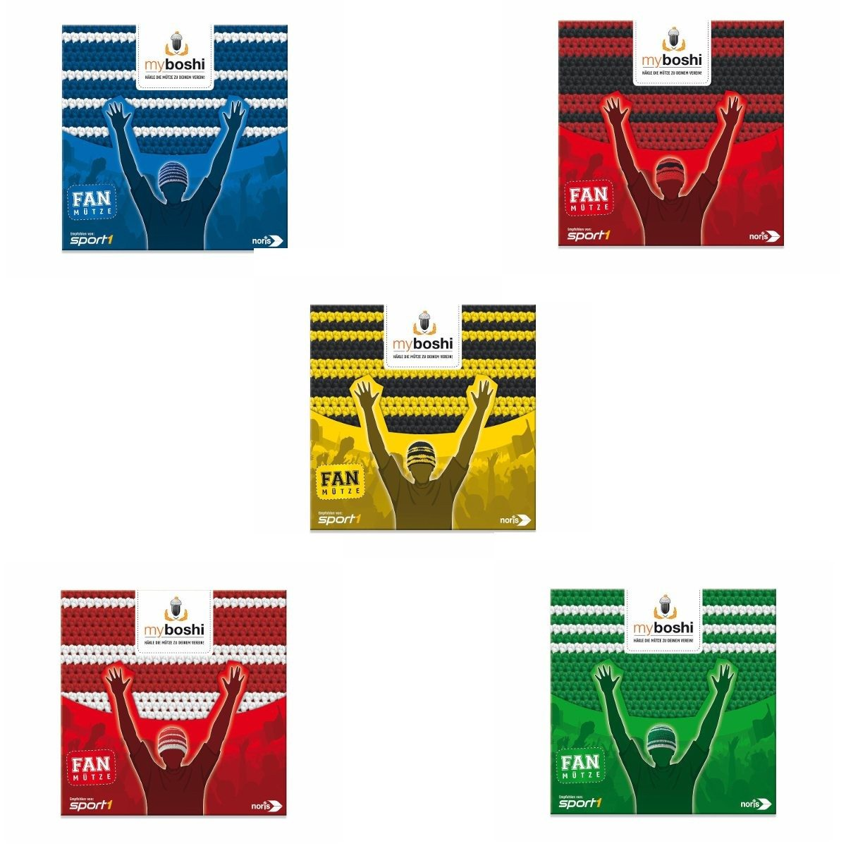 MyBoshi – Fußballvereins-Mütze selber häkeln