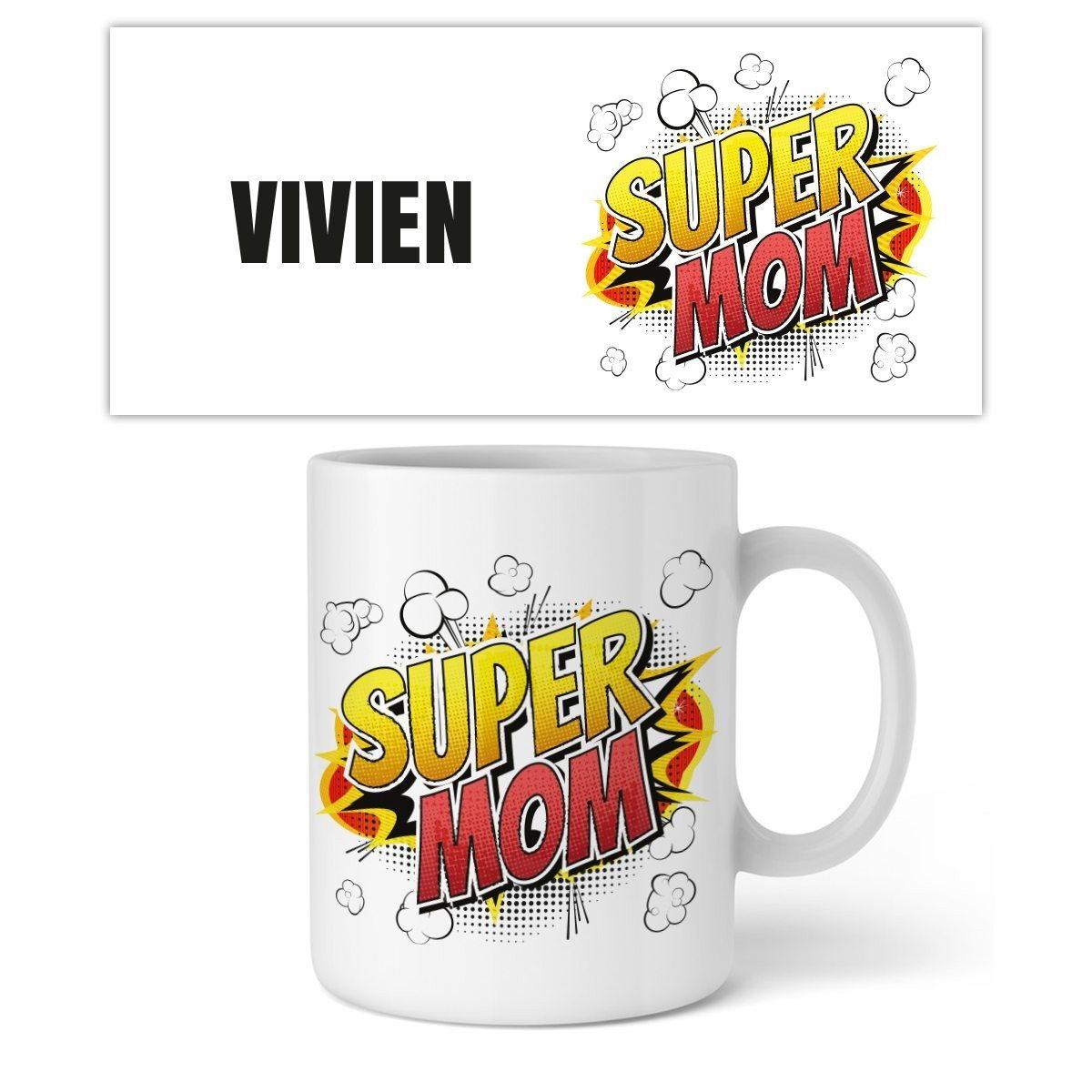 "Personalisierbare Tasse ""Super Mom"""