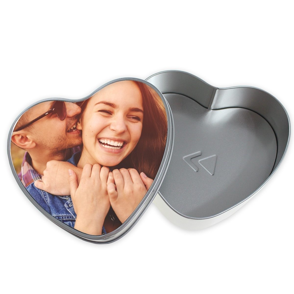 PERSONALIZED HEART SHAPED METALL GIFTBOX