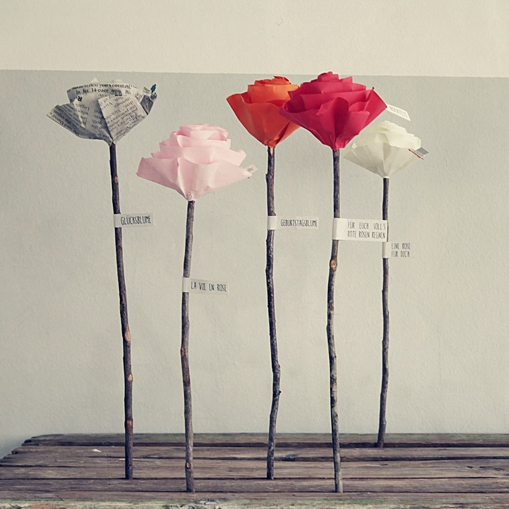 Rose aus Papier