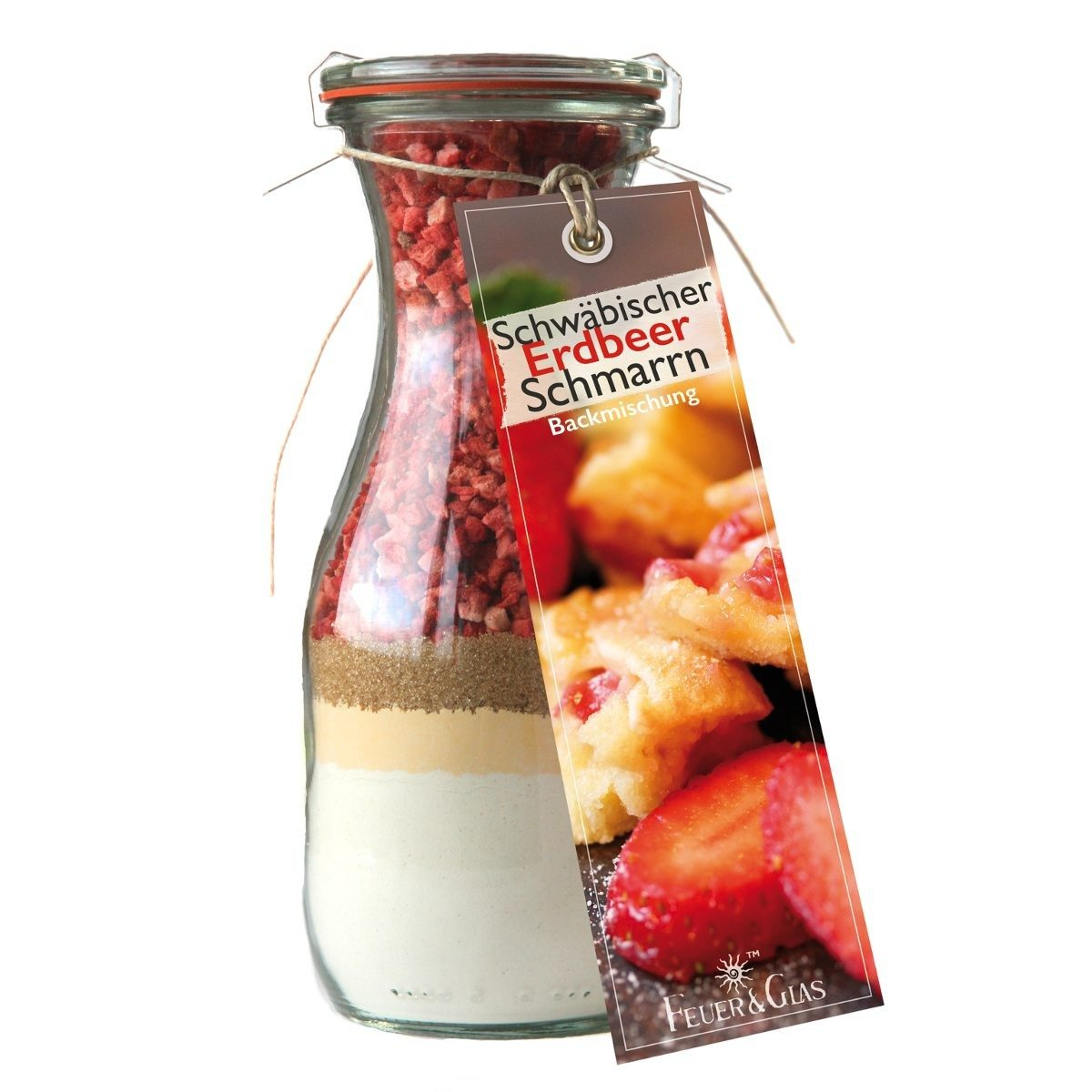 Schwäbischer Erdbeerschmarrn - Backmischung im Glas
