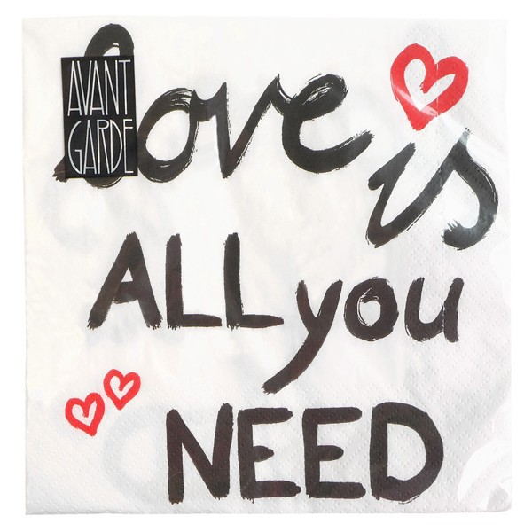 """Serviette """"Love is all you need"""""""