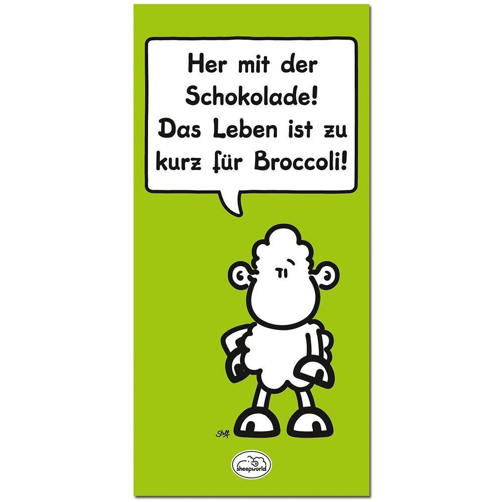 "Sheepworld-Schokolade ""Zu kurz für Broccoli"""
