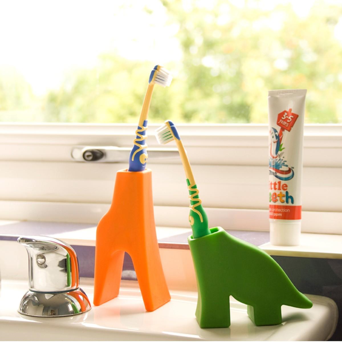 Zahnbürstenhalter in Tierform