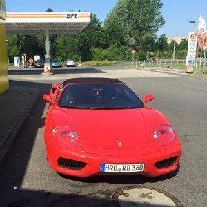 Beifahrer im Ferrari 360 Spider - Hamburg