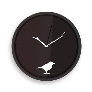 Der frühe Vogel… - Wanduhr