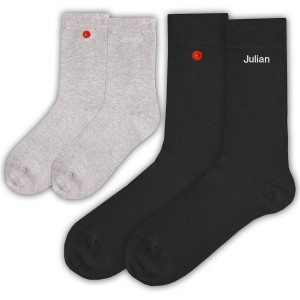 Die unzertrennlichen Socken mit Knopf