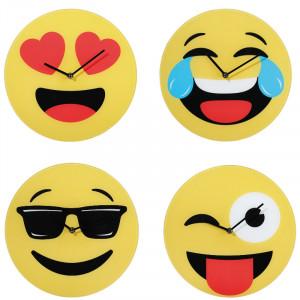 Emoji-Wanduhr