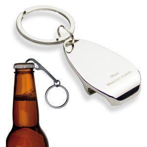 Gravierter Schlüsselanhänger mit Flaschenöffner