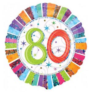 "Helium-Luftballon ""80. Geburtstag"""