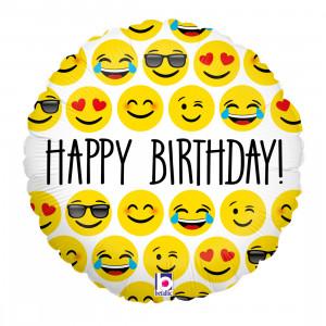 Helium-Luftballon Emojis Happy Birthday