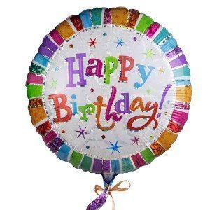 "Helium-Luftballon ""Happy Birthday"""