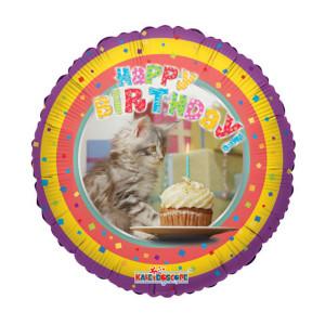 "Helium-Luftballon ""Happy Birthday"" (Katze)"