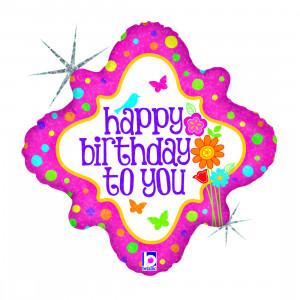 Helium-Luftballon Happy Birthday To You