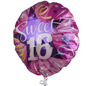 """Helium-Luftballon """"Sweet 16"""""""
