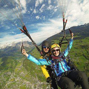 Höhen-Tandemflüge von den Bergen im Montafon