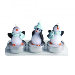 """Kerzenset """"Pinguin"""""""