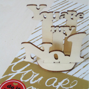 """Mini-Holzpuzzle """"You are my No. 1"""""""
