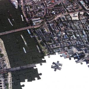 Personalisierbares Luftbild-Puzzle