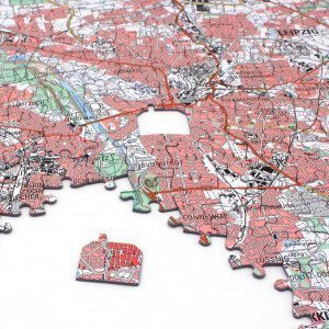 Personalisierbares Stadtkarten-Puzzle