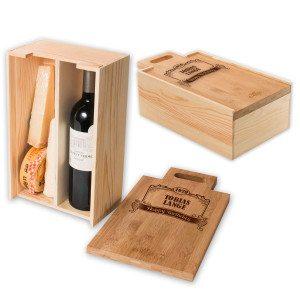 RACKPACK – gravierte Geburtstagsbox für Käse und Wein