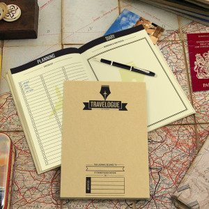 Reisebuch mit Weltkarten